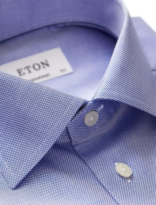 Eton contemporary fit overhemd blauw oxford
