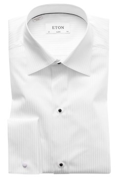 Eton smoking shirt classic fit satijn streep