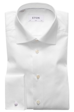 Eton slim fit shirt wit dubbel manchet