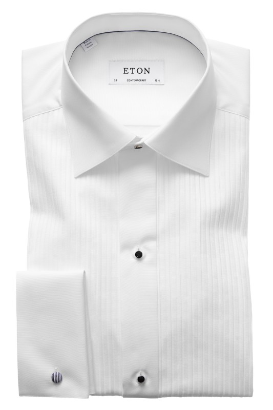 Eton smoking overhemd wit plissé Contemporary Fit