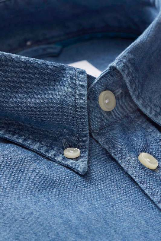 Eton overhemd Slim Fit denim button down