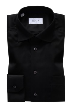 Eton shirt zwart Classic Fit Signature Twill