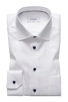 Wit shirt Eton Classic Fit
