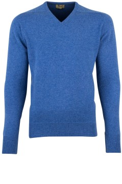 William Lockie pullover blauw lamswol