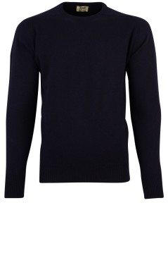 William Lockie pullover donkerblauw ronde hals