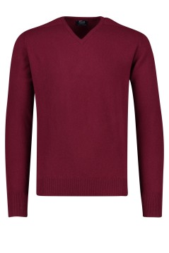 Trui 100% wol bordeaux William Lockie