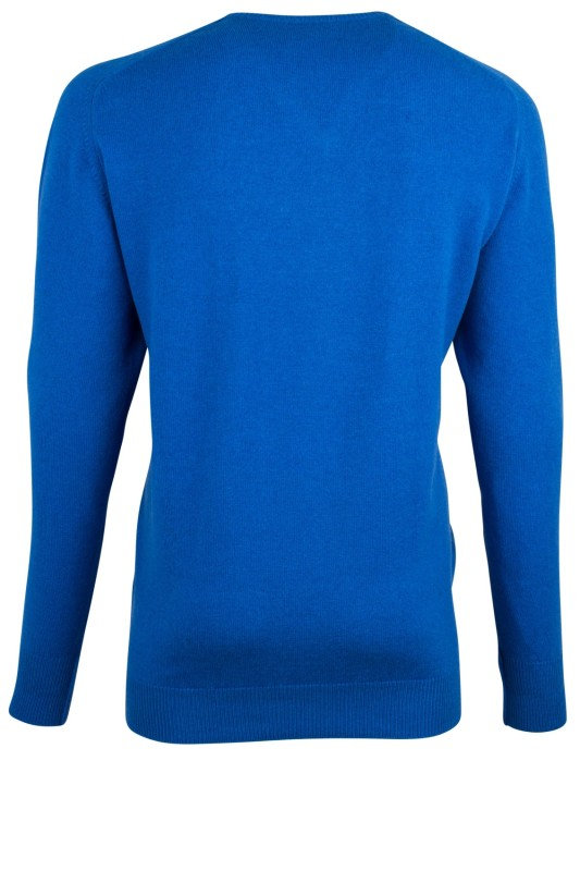 William Lockie trui v-hals blauw