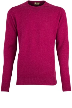 William Lockie pullover roze lamswol