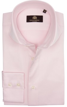 Circle of Gentlemen overhemd cut-away roze effen