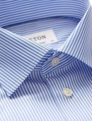 Eton overhemd contemporary fit classic stripe blue wit