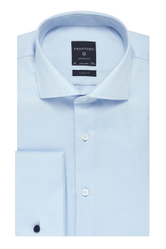 Profuomo overhemd slim fit blue dubbele manchet