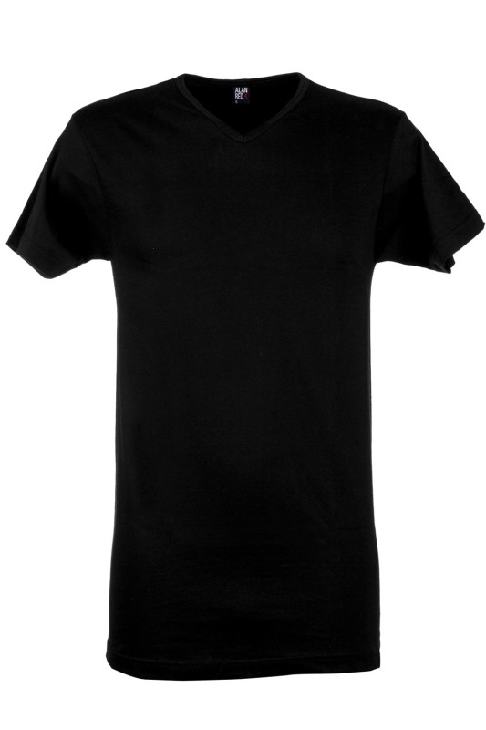 Alan Red T-shirt Vermont Long zwart