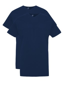 Vermont Long Alan Red t-shirt donkerblauw 2-pack