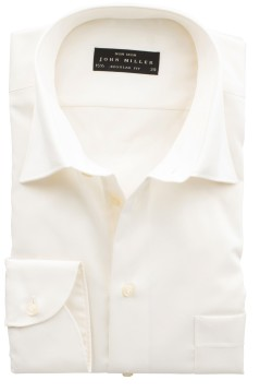 Shirt John Miller Ecru regular fit