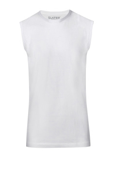 Tanktop Slater white 100% cotton sleeveless