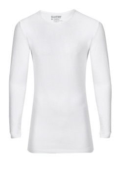 Slater T-shirt Long Sleeve wit