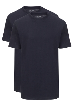 T-shirts Slater navy ronde hals basic 2-Pack