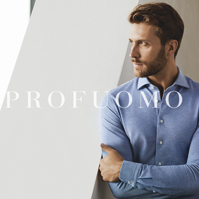 Profuomo The Knitted Shirt - Profuomo jersey overhemden
